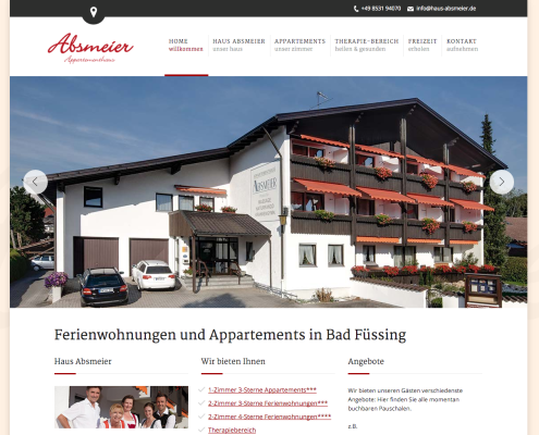 Physiotherapie Bad Füssing | Partner Appartementhaus Absmeier